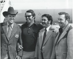 Rayo Breckenridge (right) with Ray Scott, Bill Dance and Ricky Green